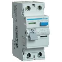 Устройство защитного отключения УЗО 2x25A, 30 mA, AC, 2м Hager CD226J
