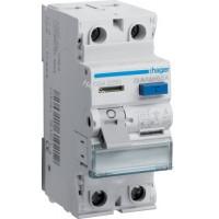 Устройство защитного отключения УЗО 2x25 A, 500 mA, A, 2м Hager CGA225D