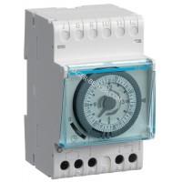 Таймер аналоговый, недельный, 16А, 1 переключающий контакт, резерв хода 200 часов, 3м Hager EH171