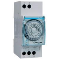 Таймер аналоговый, суточный, 110-230В, 16А, 1 переключающий контакт, без резерва хода, 2м Hager EH209