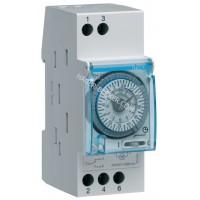 Таймер аналоговый, суточный, 230В, 16А, 1 переключающий контакт, запас хода 200 часов, 2 м Hager EH211