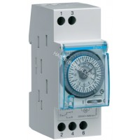 Таймер аналоговый, недельный, 230В, 16А, 1 переключающий контакт, запас хода 200 часов, 2 м Hager EH271
