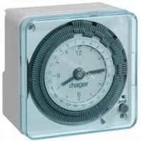 Таймер аналоговый, недельный, 16А, 1 переключающий контакт, без резерва хода Hager EH770