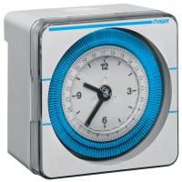 Таймер аналоговый, недельный, 16А, 1 переключающий контакт, запас хода 200 часов Hager EH771