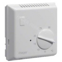 Термостат биметаллический, 230В/ 10А, контакт - НО, без контрольного индикатора Hager EK054