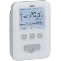 Термостат цифровой многофункциональный, питания 2x1.5В, макс.нагрузки 230В/5А Hager EK520