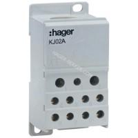 Блок распределительный In=250А, ввод 1х95мм2, выход 2х25х16 і 4х10мм2, Hager KJ02A
