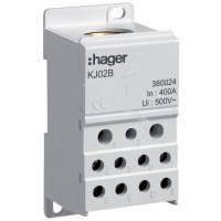 Блок распределительный In=400А, ввод 1х150мм2, выход 2х25х16 і 4х10мм2, Hager KJ02B