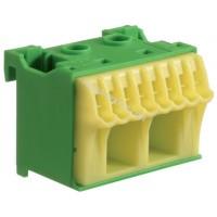 Блок PE-клемм, количество единиц деления - 1,5 ширина — 45мм Hager KN10E