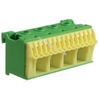Блок PE-клемм, количество единиц деления - 2,5 ширина — 75мм Hager KN18E