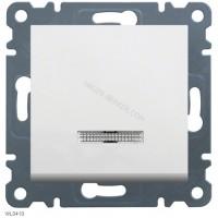 Выключатель с подсветкой 1-тактовый Lumina-2, белый, 10АХ/230В Hager WL0410