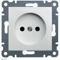 Розетка без заземления Lumina-2, белая, 16А/230В Hager WL1010
